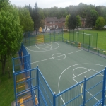 Multi Use Games Area Painting in Bryncroes 9