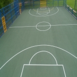 Multi Use Games Area Painting in Bryncroes 7