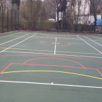 Multi Use Games Area Painting in Abersoch 1