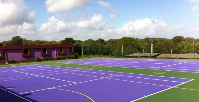 MUGA Colour Spraying in Abergarw