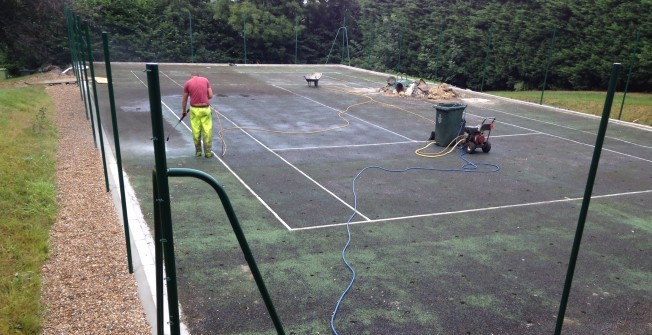 MUGA Maintenance in Aberangell