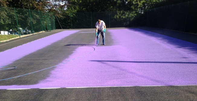 MUGA Court Repainting in Abbey Field