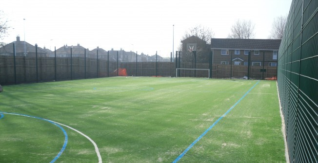 Multi Use Sports Pitch in Almshouse Green