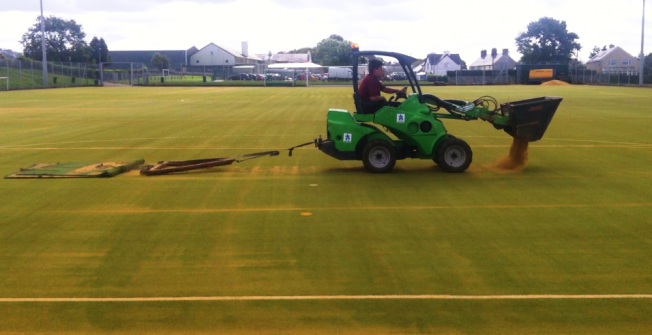 Sports Pitch Maintenance in Abbey Field