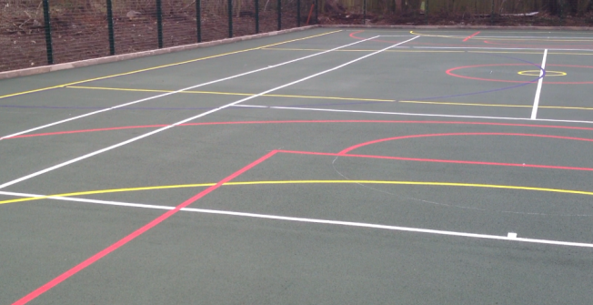 Sports Court Line Marking in Bengeworth
