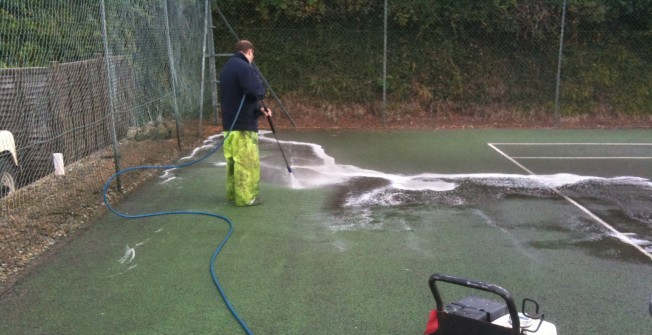 Sport Surface Repair Company in Abergarw