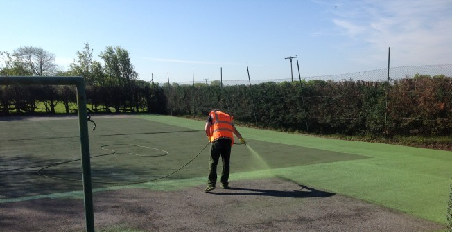 Sports Facility Repairs UK in Abergarw
