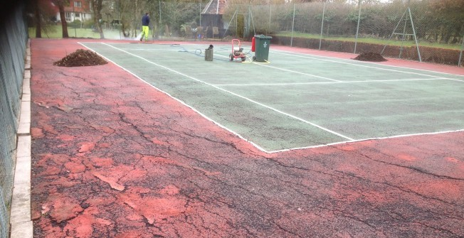 MUGA Sports Court Repairs in Abergarw